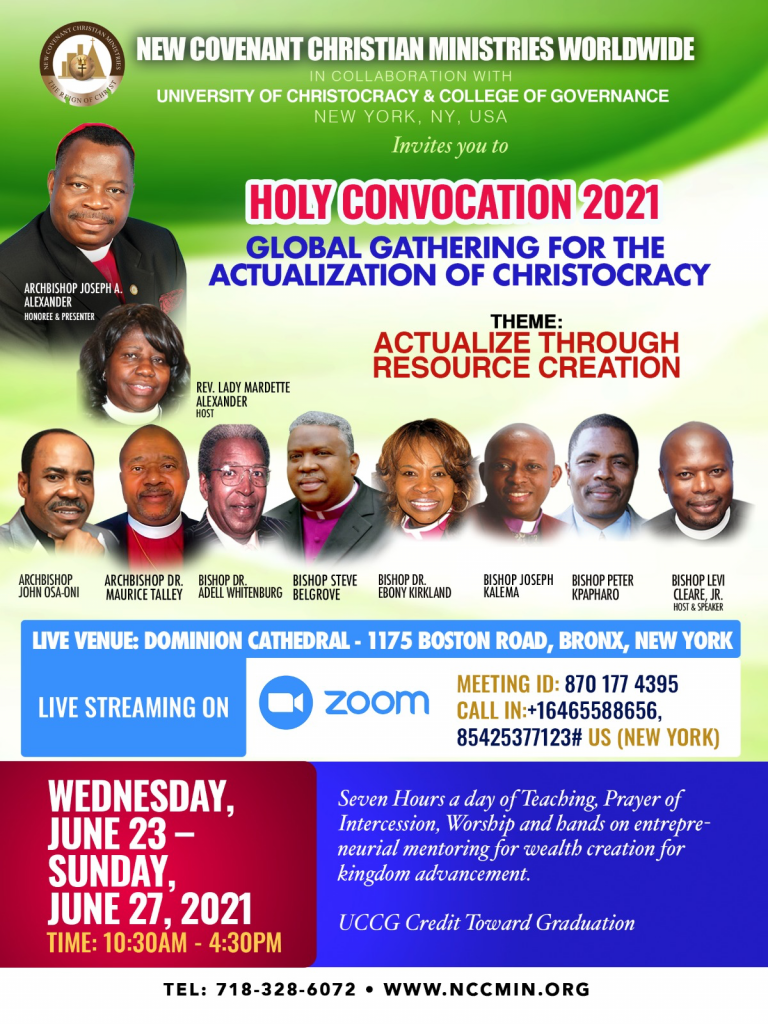 Holy Convocation 2021 Flyer - New Covenant Christian Ministries Worldwide