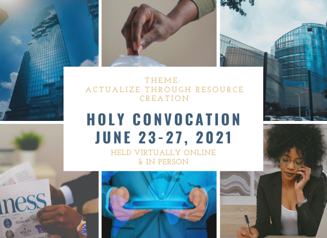 holy convocation June 23-27, 2020